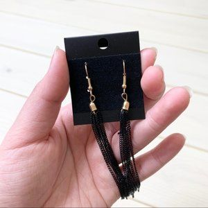 Jewelry - Black Chain Dangle Earrings (D)